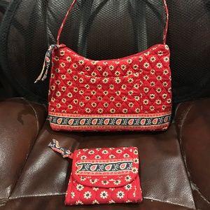 Vera Bradley American Red Purse + Wallet